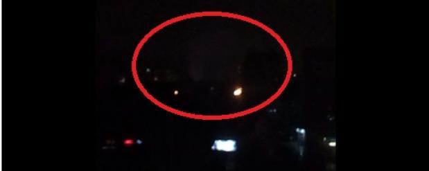 В пасхальную ночь в небе над Омском наблюдалось странное свечение